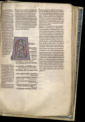 Illuminated Zoomorphic Initial, In A Copy Of Jeremiah And Daniel With The Ordinary Gloss f.85r